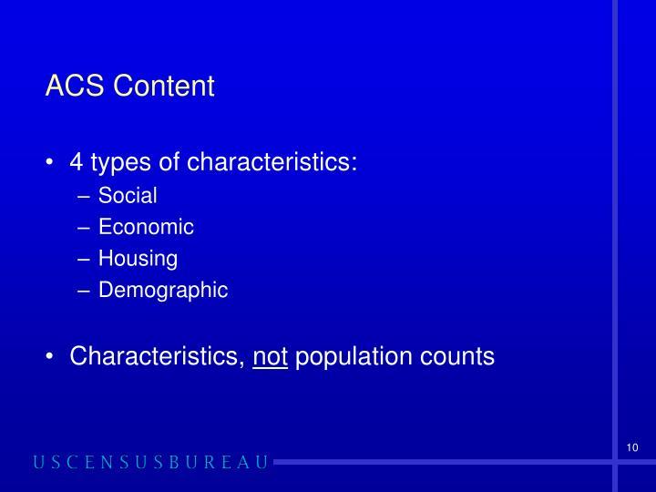 ACS Content