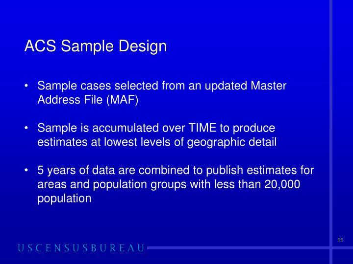 ACS Sample Design