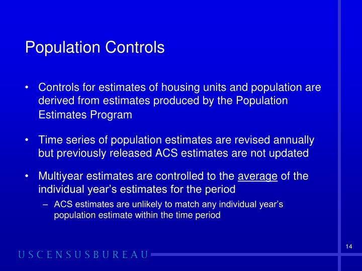 Population Controls