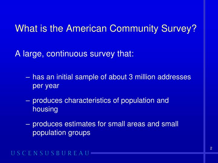 What is the American Community Survey?