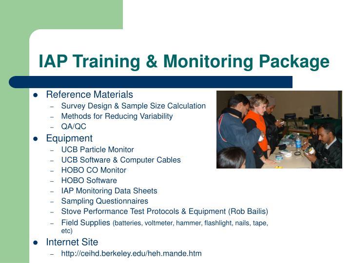 IAP Training & Monitoring Package