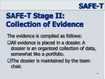 safe t stage ii collection of evidence1