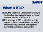 what is et1