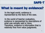 what is meant by evidence