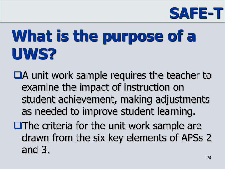 What is the purpose of a UWS?