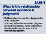what is the relationship between evidence judgment