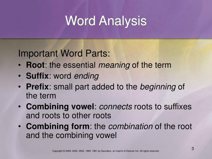 Word Analysis