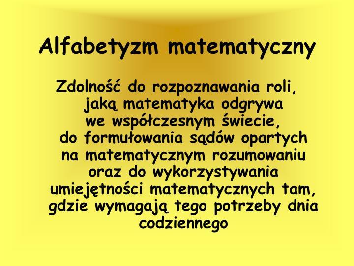 Alfabetyzm matematyczny