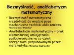 bezmy lno analfabetyzm matematyczny