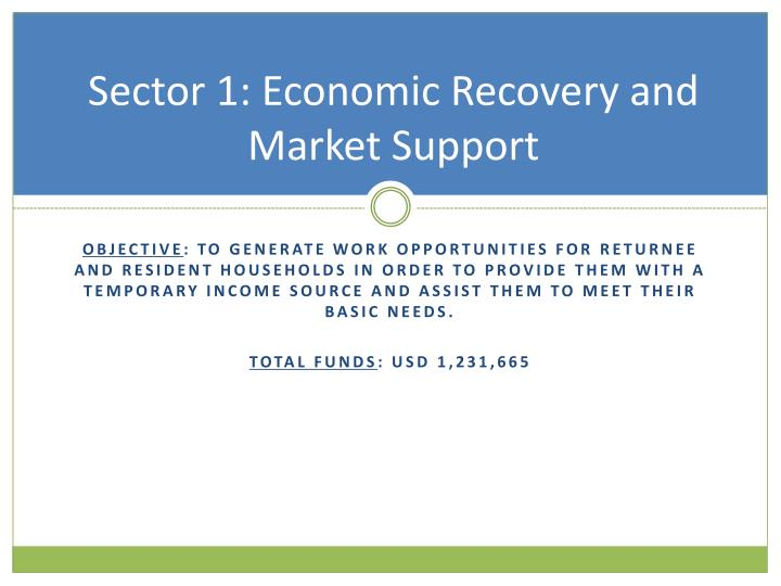 Sector 1: Economic Recovery and Market Support