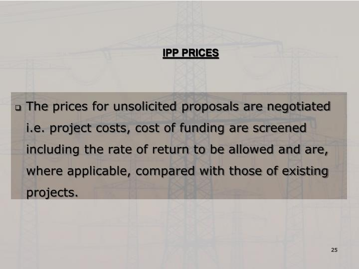 IPP PRICES