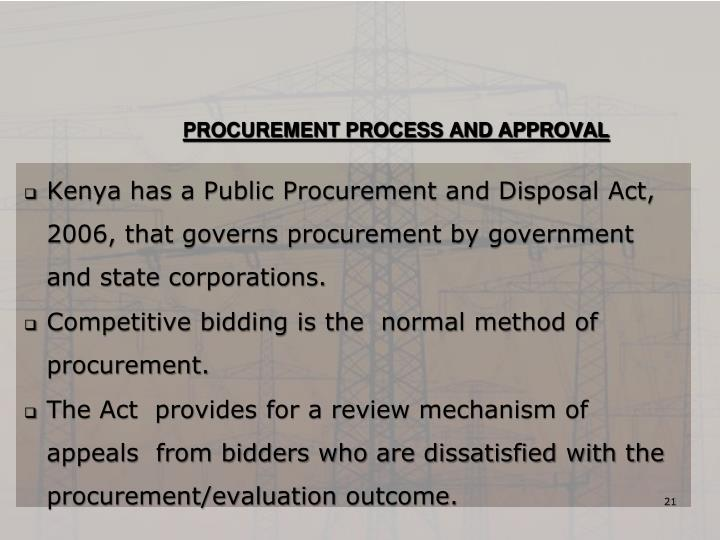PROCUREMENT PROCESS AND APPROVAL