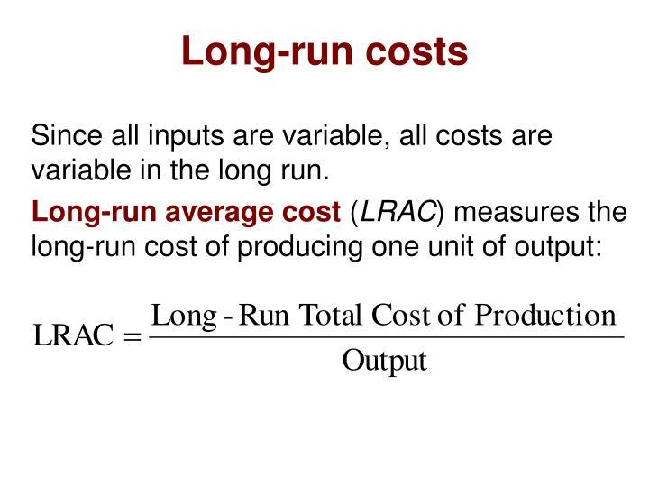 Long-run costs