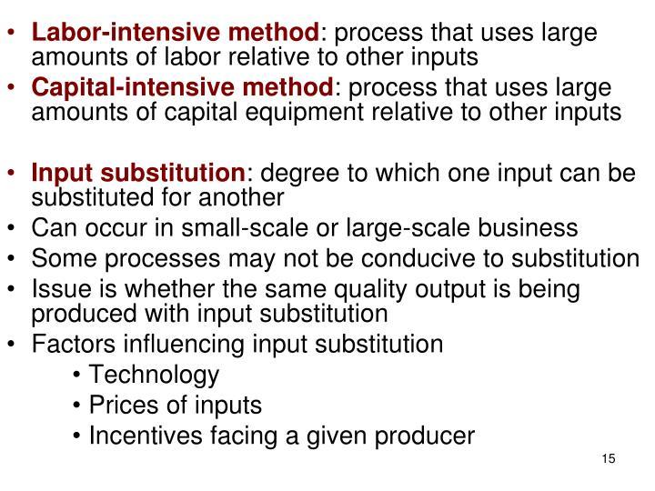 Labor-intensive method