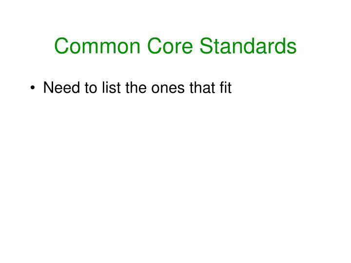 Common Core Standards