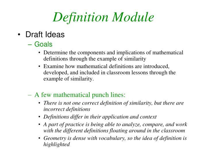 Definition Module