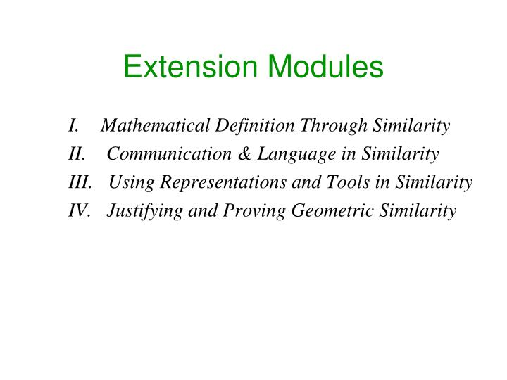 Extension Modules