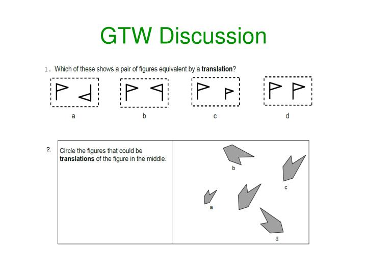GTW Discussion