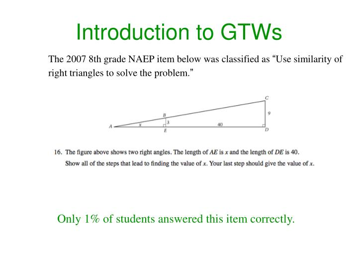 Introduction to GTWs