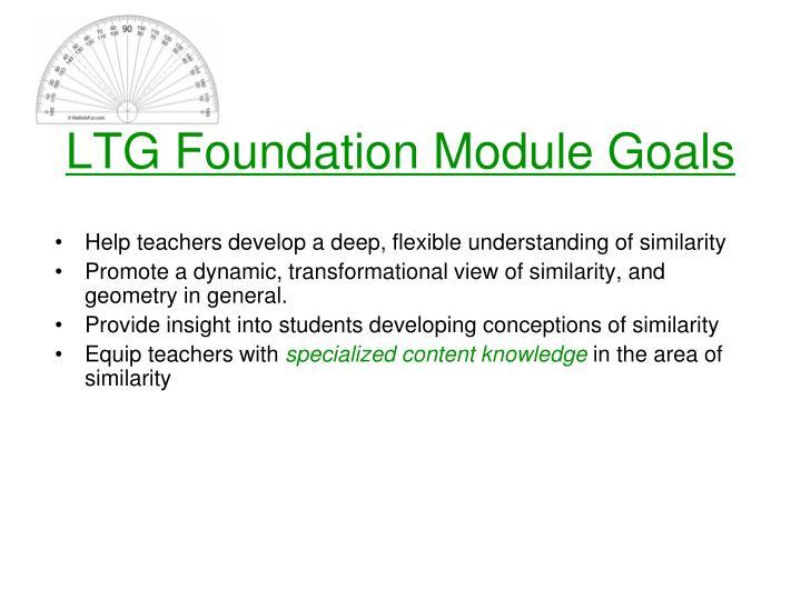 LTG Foundation Module Goals
