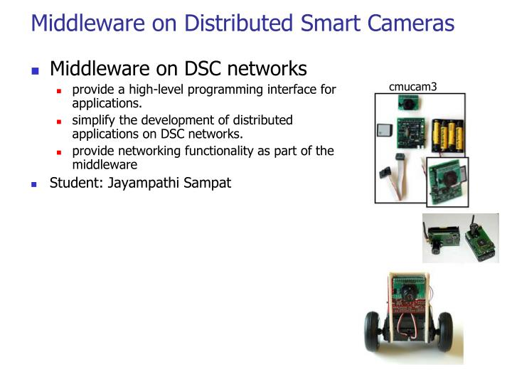Middleware on Distributed Smart Cameras