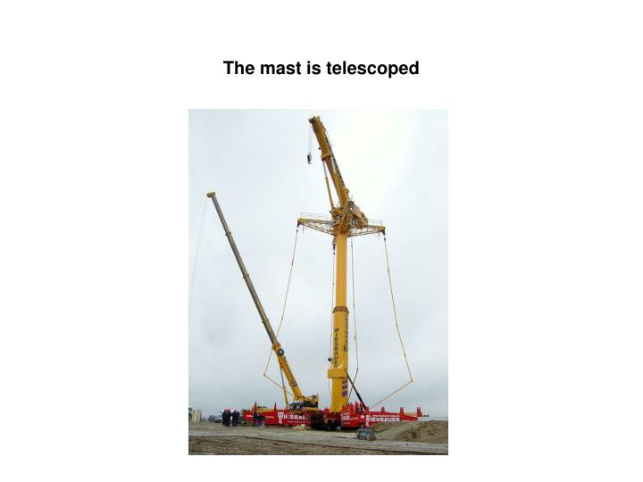 The mast is telescoped