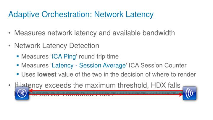Adaptive Orchestration: Network Latency