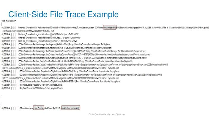 Client-Side File Trace Example