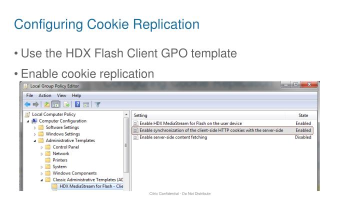Configuring Cookie Replication