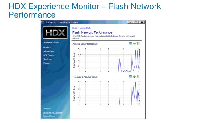 HDX Experience Monitor – Flash Network Performance