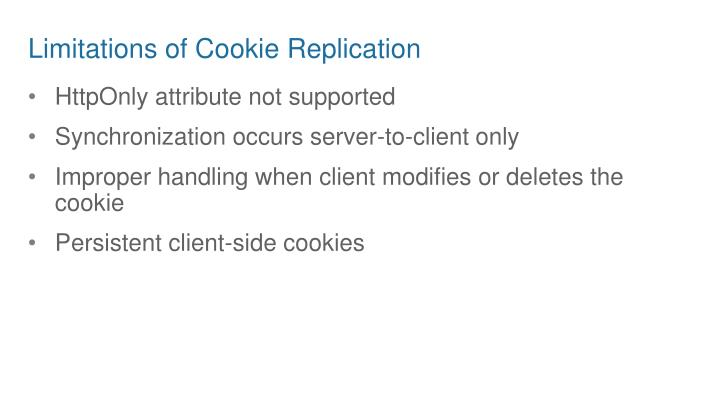 Limitations of Cookie Replication