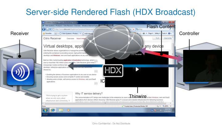 Server-side Rendered Flash (HDX Broadcast)