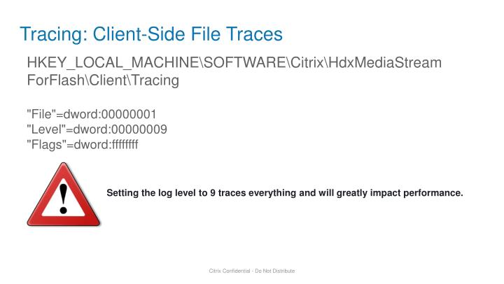 Tracing: Client-Side File Traces