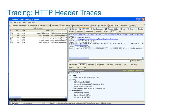 Tracing: HTTP Header Traces