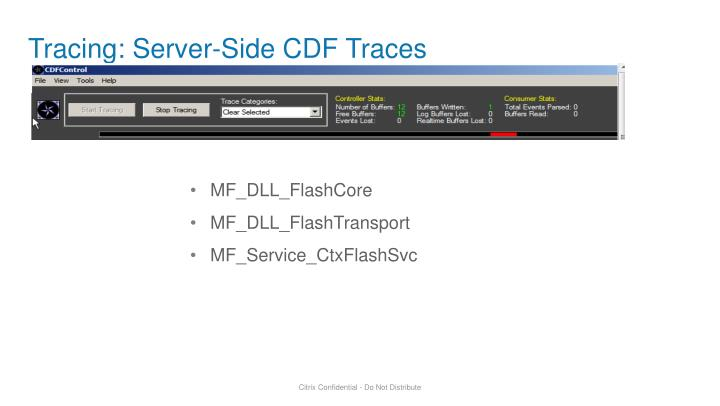 Tracing: Server-Side CDF Traces