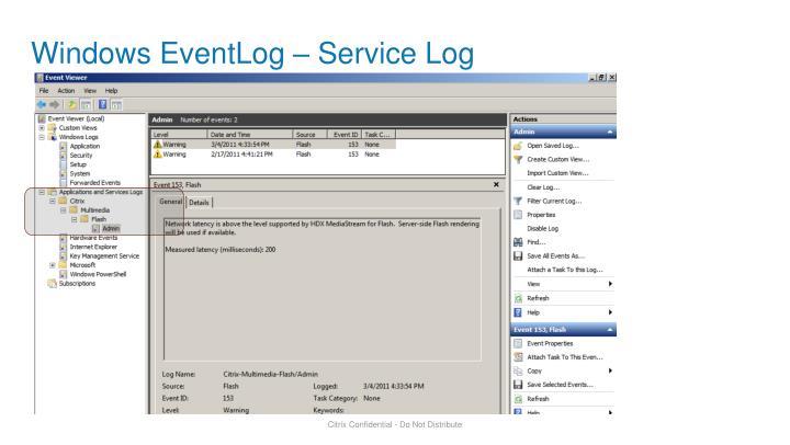 Windows EventLog – Service Log