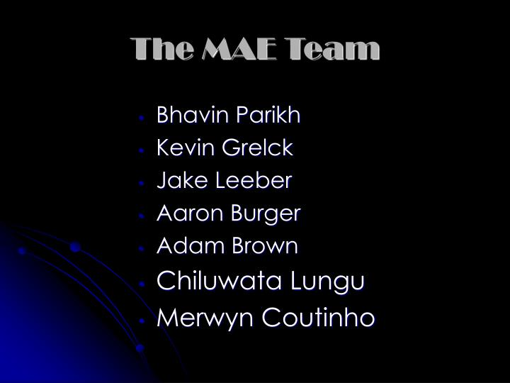 The MAE Team