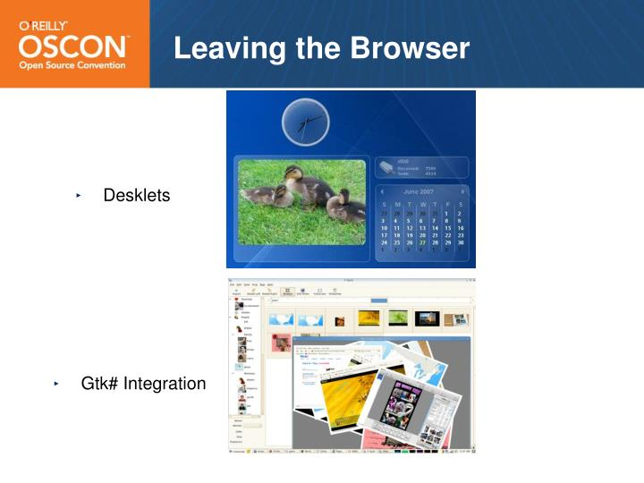 Leaving the Browser