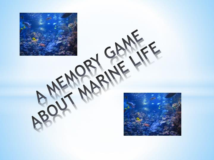 a memory game about marine life