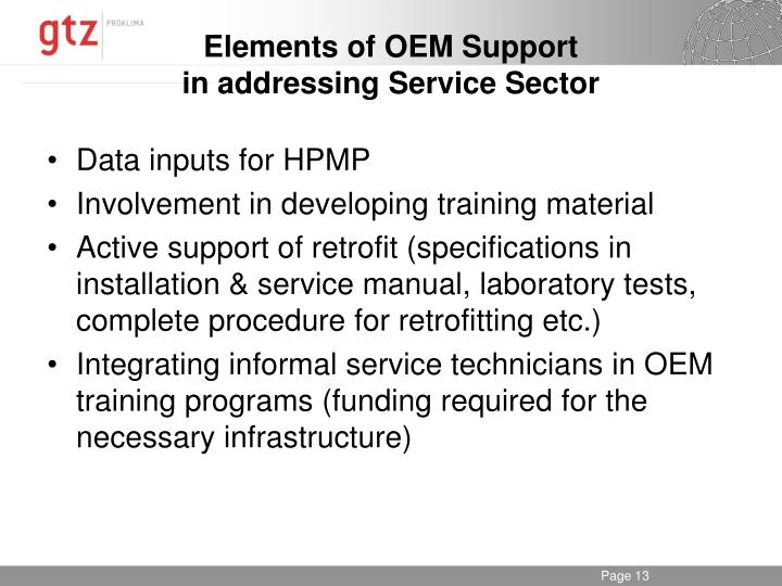 Elements of OEM Support