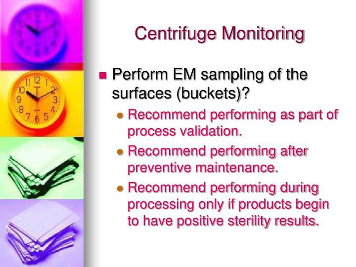 Centrifuge Monitoring