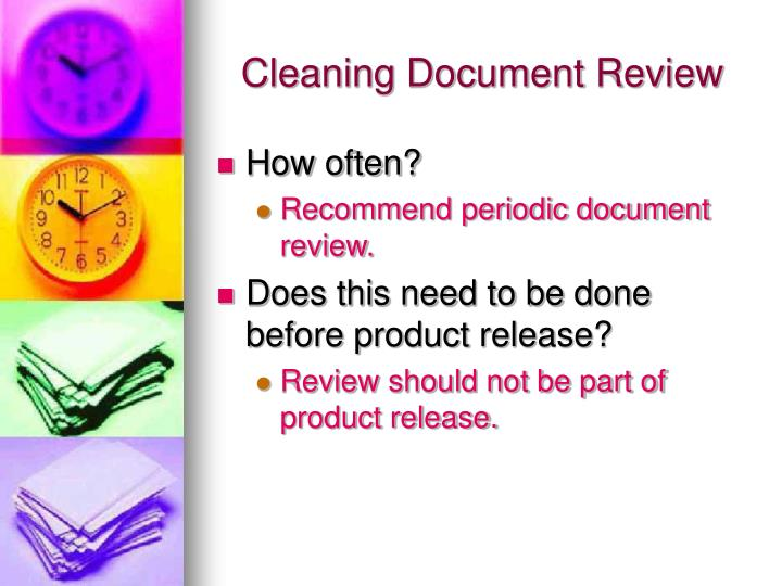 Cleaning Document Review