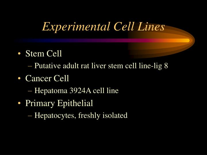 Experimental Cell Lines