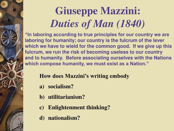 Giuseppe Mazzini: