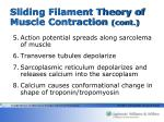 sliding filament theory of muscle contraction cont