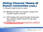 sliding filament theory of muscle contraction cont1