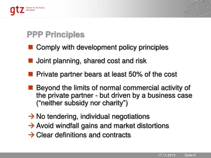 PPP Principles