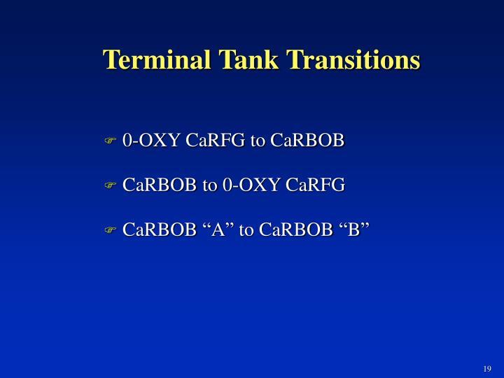 Terminal Tank Transitions
