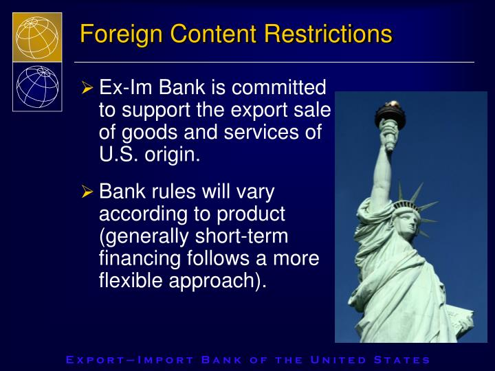 Foreign Content Restrictions
