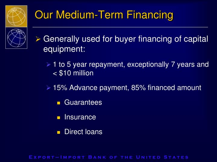 Our Medium-Term Financing